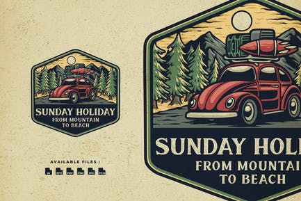 Sunday Holiday Handrawn Logo