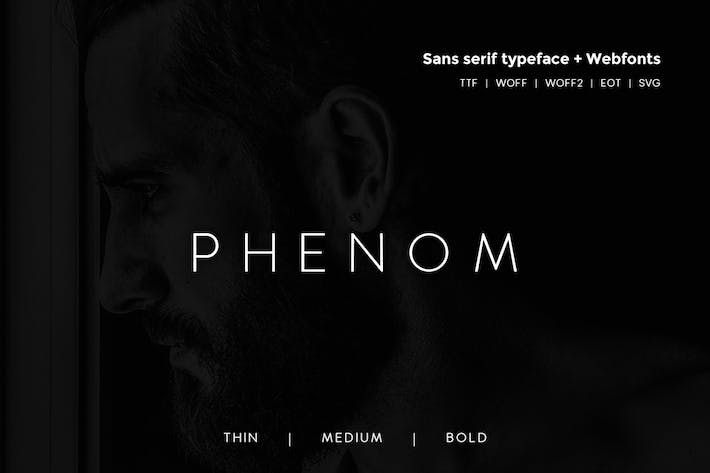 Thumbnail for Phenom Grotesque - Modern Typeface + Webfonts