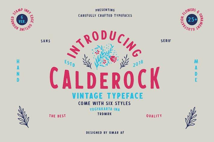Thumbnail for Calderock Typeface + Extras