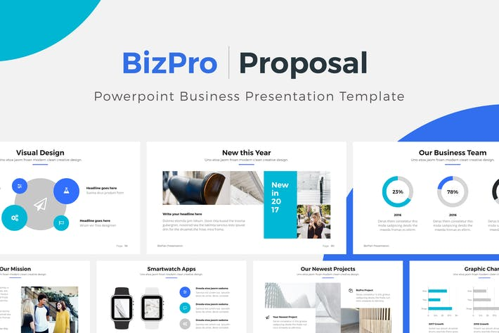 Cover Image For BizPro | Powerpoint Proposal Template Presentation
