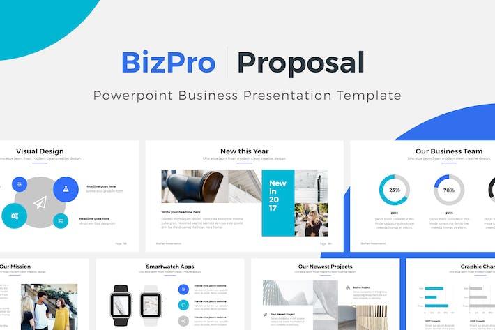 bizpro powerpoint proposal template presentation by pixasquare on