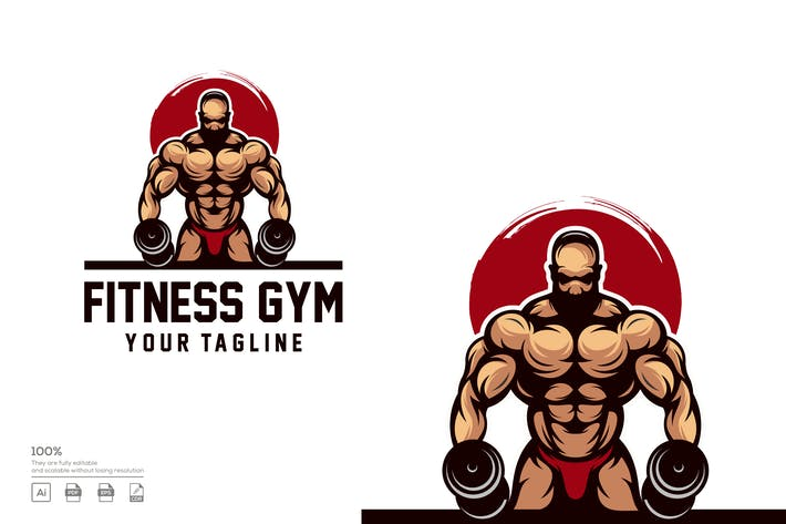 Thumbnail for FITNESS LOGO DESIGN