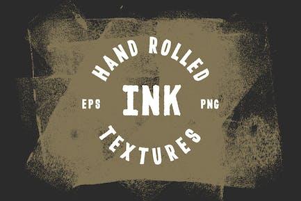 Texturen mit gerollter Tinte