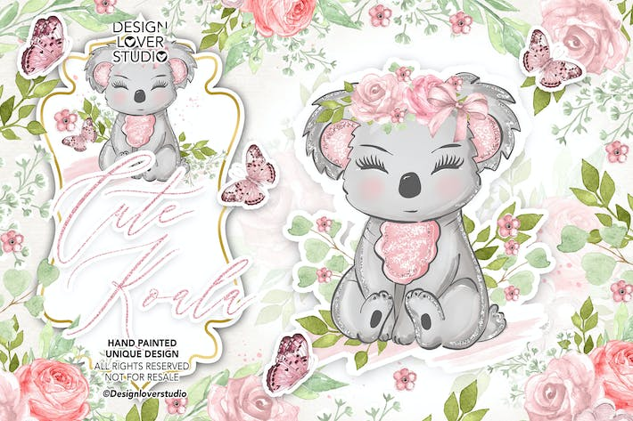 Thumbnail for Cute Koala design