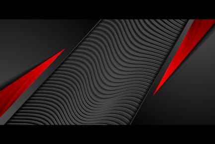 Fondo abstracto rojo negro