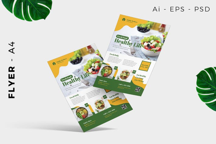 Thumbnail for Healthy Food flyer template promotion