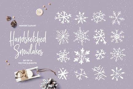 Handsketched Snowflakes