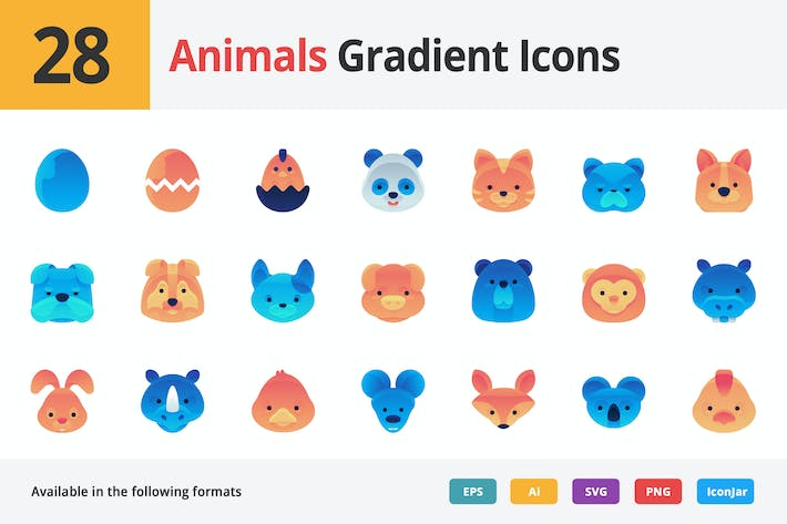 Thumbnail for Animals Gradient Vector Icons