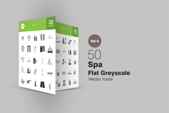Thumbnail for 50 Spa Greyscale Icons