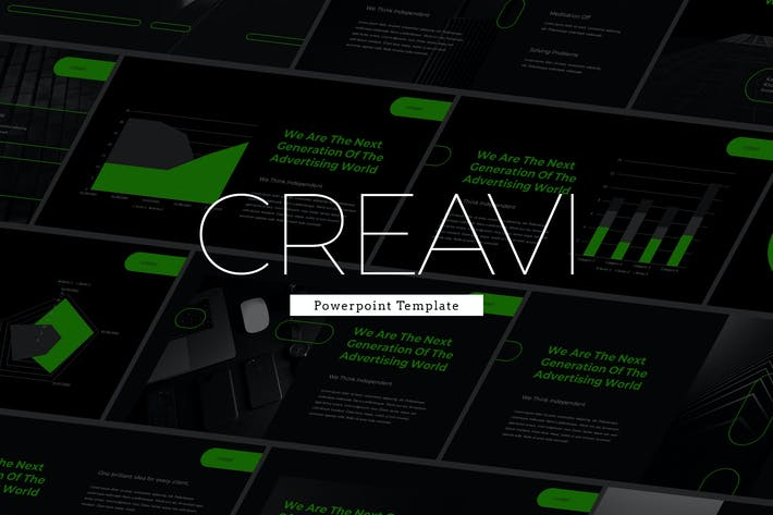 Cover Image For Creavi - Tech Theme Powerpoint Template