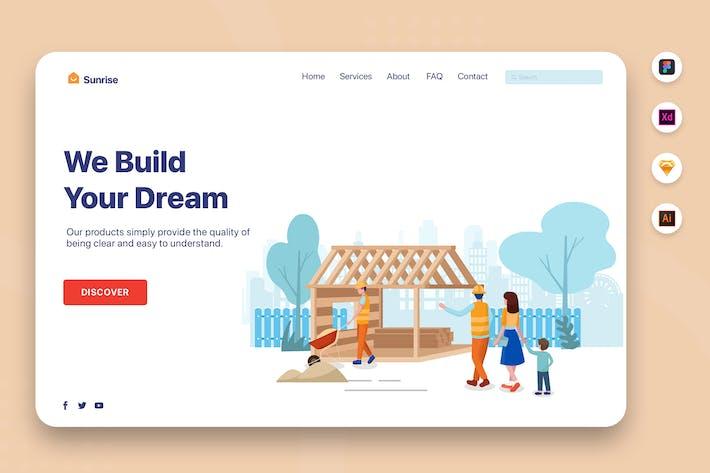 Thumbnail for Wir bauen Ihren Traum - Web Header Vorlage
