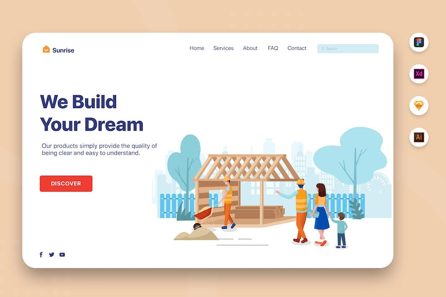 We Build Your Dream - Web Header Template