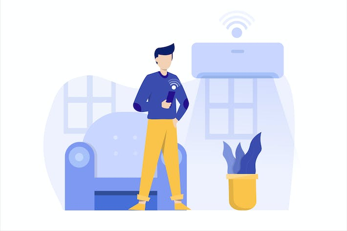 Thumbnail for Smart Home Flat Vector Illustration