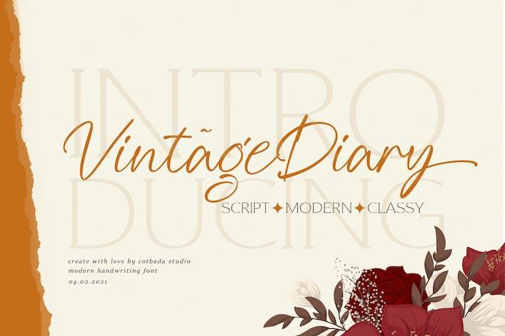 Vintage Diary Script
