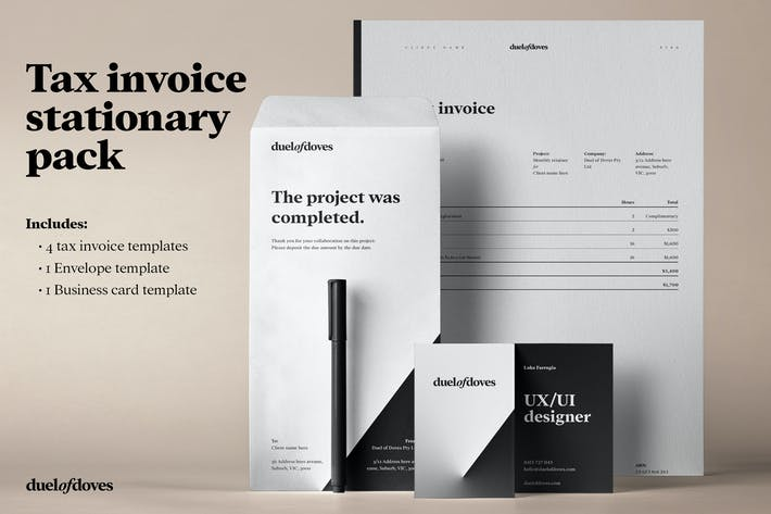 Thumbnail for Tax invoice stationary pack - vol. 1