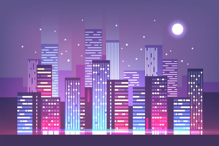 Thumbnail for Night City Skyline