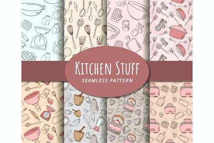 Kitchen Stuff Seamless Pattern