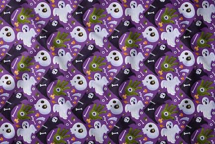 Halloween Fear Death Seamless Pattern