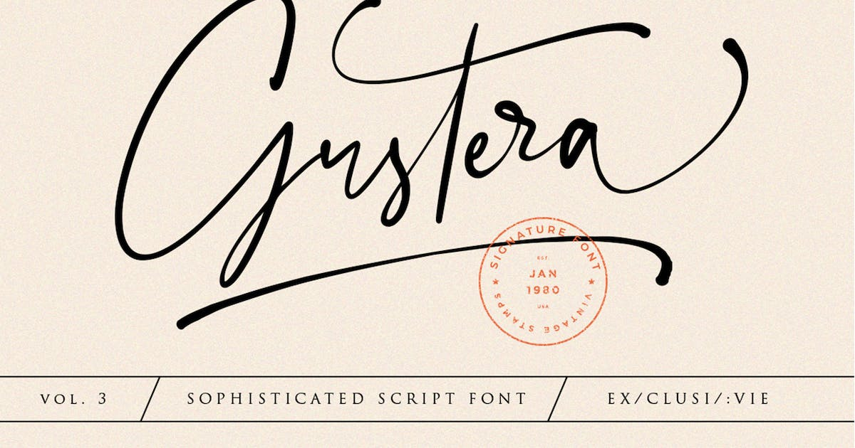 Download Gustera Signature Font by vultype