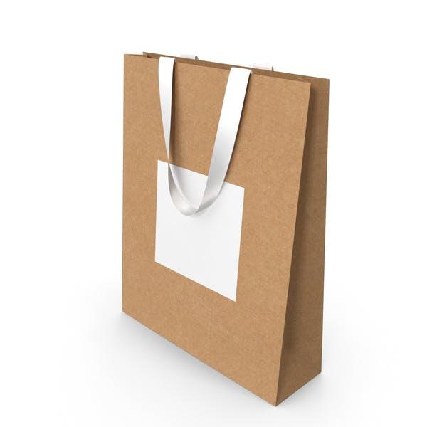 Ремесло и белый бумажный мешок с белыми ручками