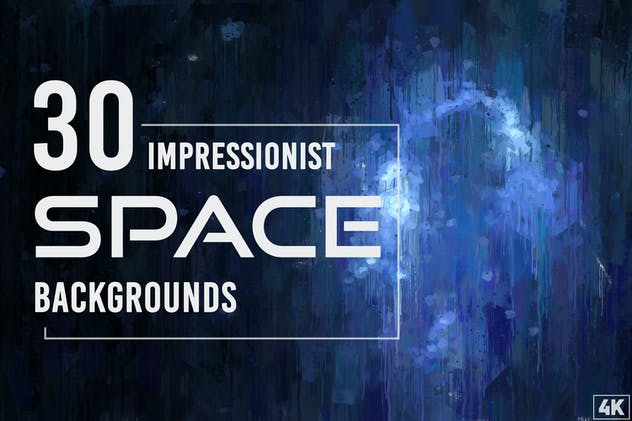 30 Impressionist Space Backgrounds - Vol. 1