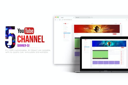Youtube Channel Banners - DJ