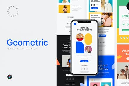 Modern Geometric Email Newsletter