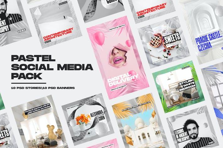 Pastell-Sozial-Media-Pack