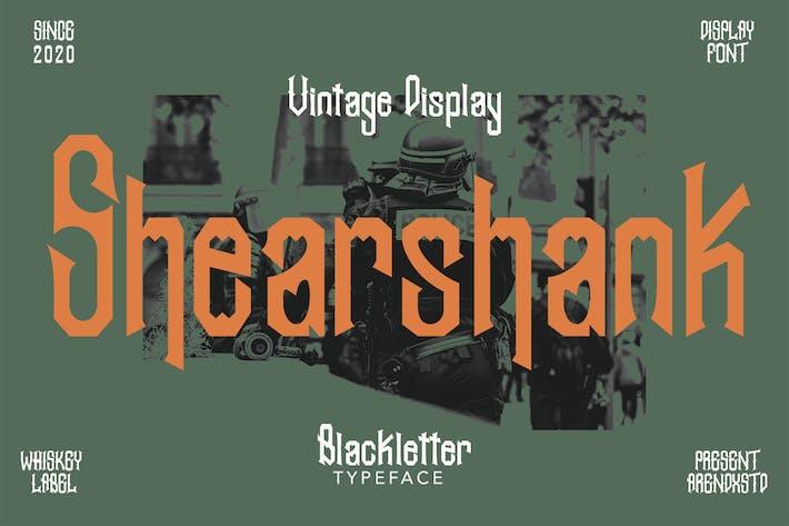 Thumbnail for Shearshank Vintage Font