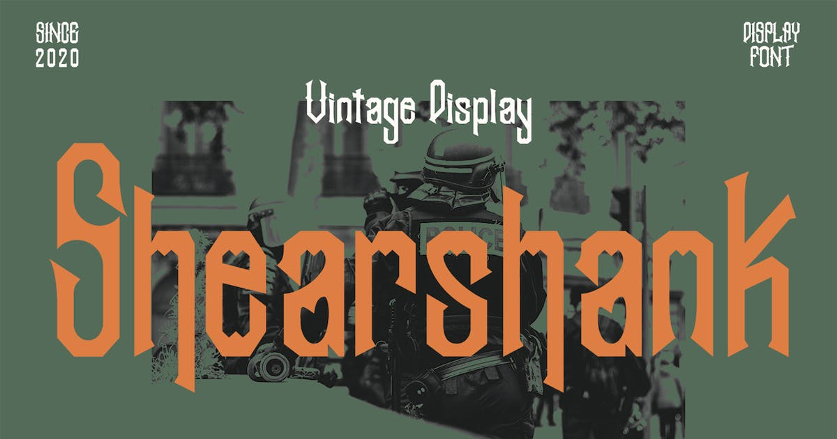 Download Shearshank Vintage Font by arendxstudio