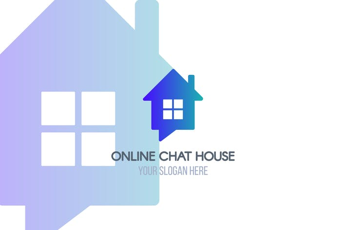 Cover Image For Online Chat House Logotype