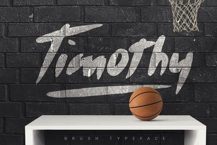 Thumbnail for Timothy Brush Typeface