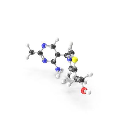 Thiamine (Vitamin B1) Molecular Model