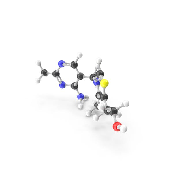 Thumbnail for Thiamine (Vitamin B1) Molecular Model