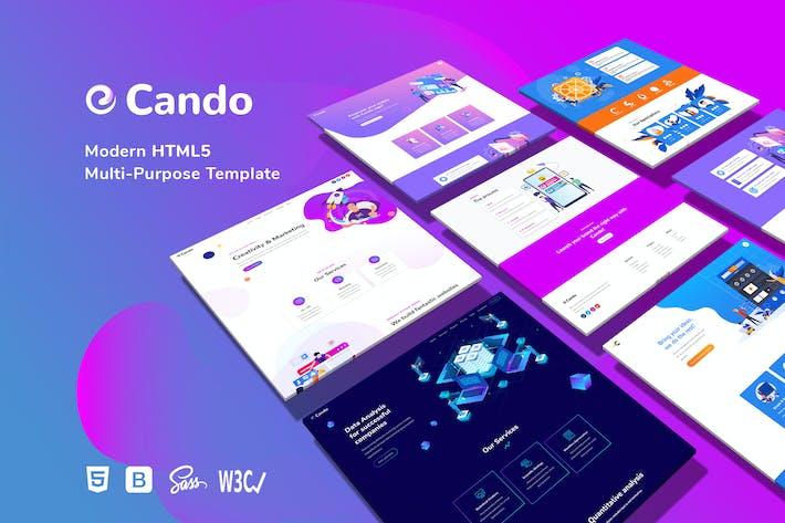 Thumbnail for Cando - Creative Multi-Purpose HTML Template