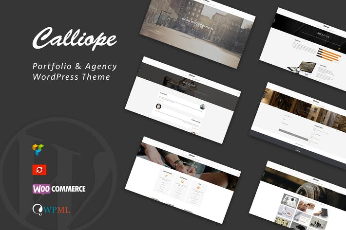 Thumbnail for Calliope - Portfolio & Agentur WordPress Thema