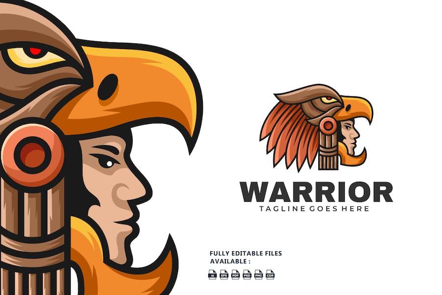 Eagle Warrior Color Mascot Logo