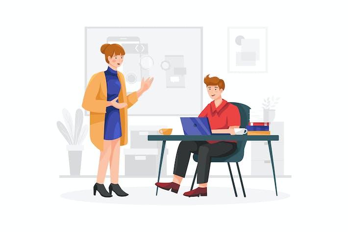 Thumbnail for Концепция вектор иллюстрации мобильного разработчика