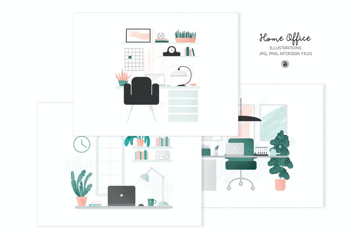 Thumbnail for Home Office Illustrations