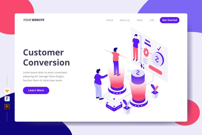 Customer Conversion - Landing Page
