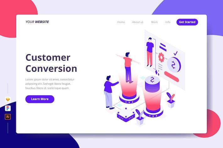 Kundenkonvertierung - Zielseite