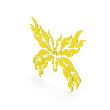 Schmetterling Aufkleber Gelb