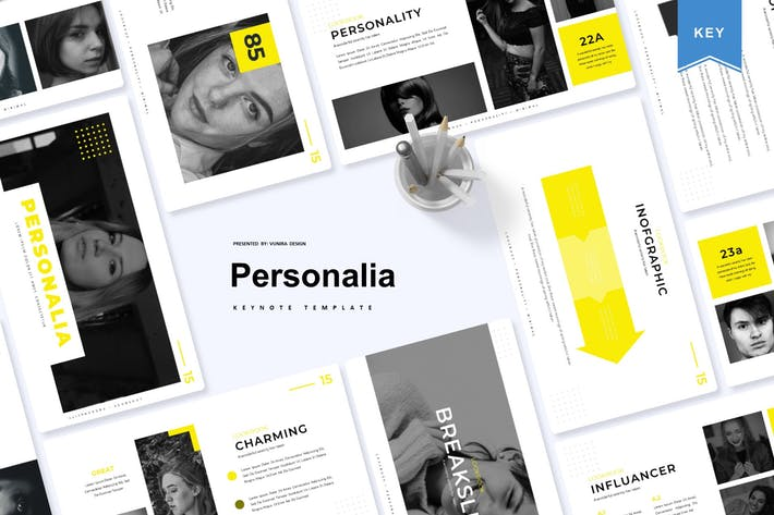Thumbnail for Personalia | Шаблон Keynote