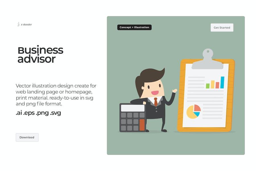 Dooder - Ilustración de asesor de negocios