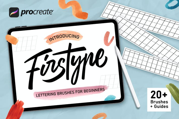 Thumbnail for Firstype - Procreate Lettering Brushes