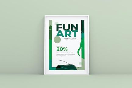 Fun Art Flyer Vorlage