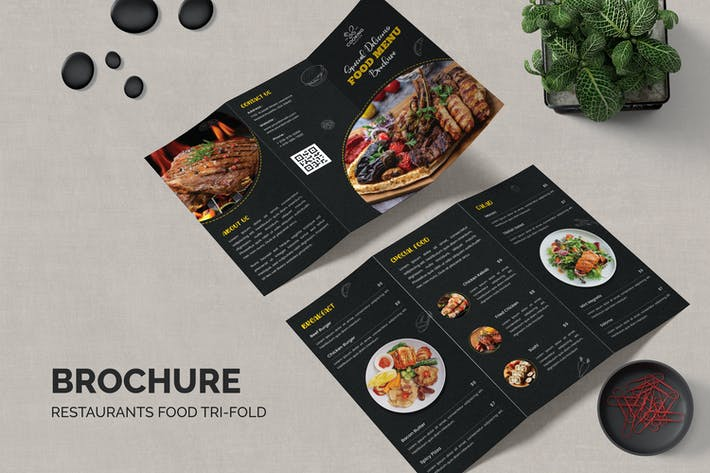 Trifold Brochure Restaurants Food