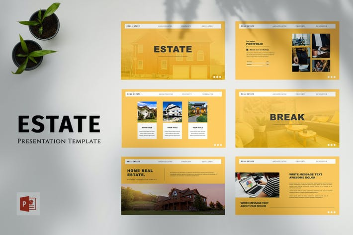 Thumbnail for Estate - Business PowerPoint Template