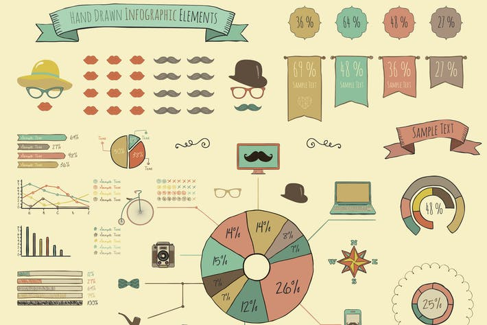 Thumbnail for Elements and Icons of Infographics