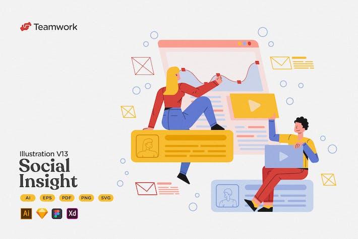 Thumbnail for Teamwork - Soziale Einblicke & Postanalyse